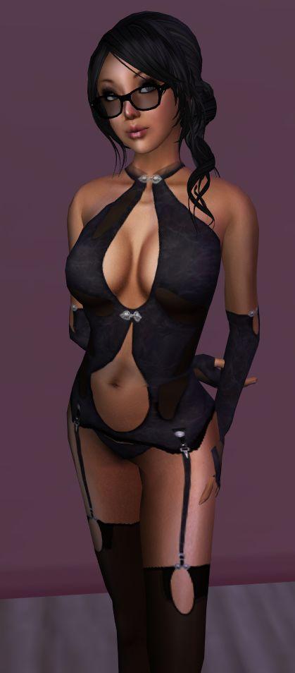 SEXY BLACK MISTRESS LINGERIE