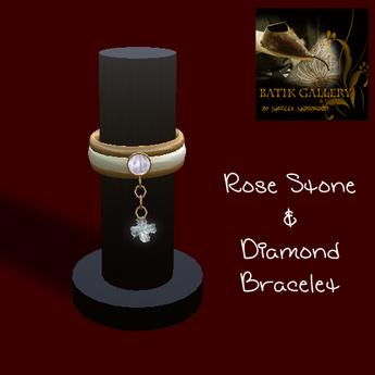 Second Life Marketplace - Rose Stone & Diamond Bracelet