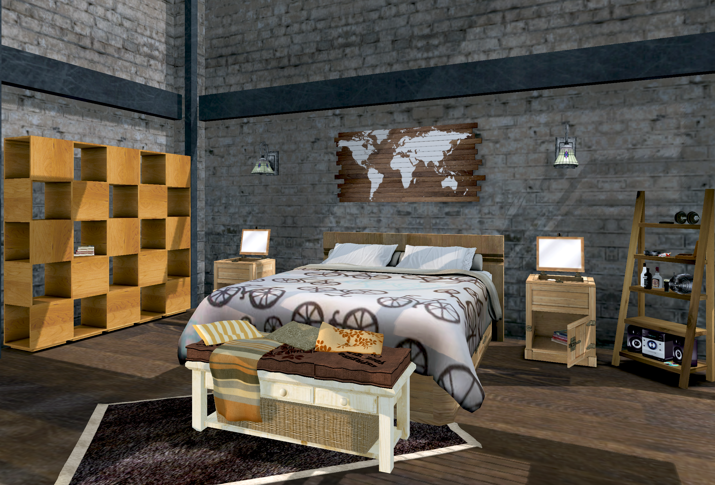 industrial style bedroom furniture. industrial bedroom design